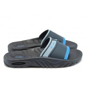 Мъжки чехли - висококачествен pvc материал - сини - EO-8635