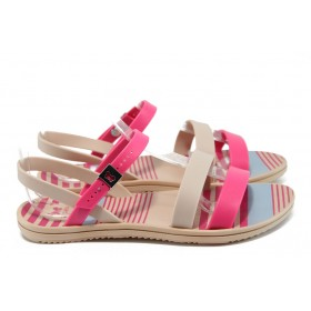 Дамски сандали - висококачествен pvc материал - розови - EO-8639