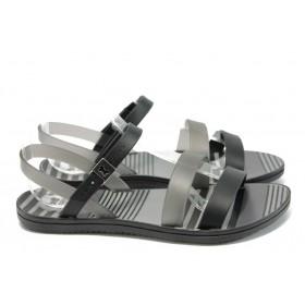 Дамски сандали - висококачествен pvc материал - черни - EO-8640