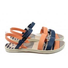 Дамски сандали - висококачествен pvc материал - сини - EO-8641