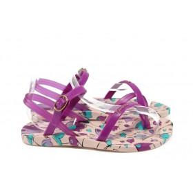 Детски сандали - висококачествен pvc материал - лилави - EO-8643