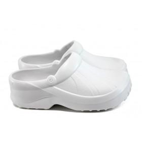 Джапанки - висококачествен pvc материал - бели - EO-8671