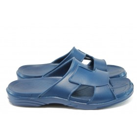 Джапанки - висококачествен pvc материал - сини - EO-8672