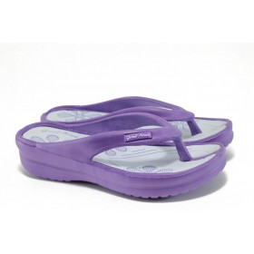 Джапанки - висококачествен pvc материал - лилави - EO-8944