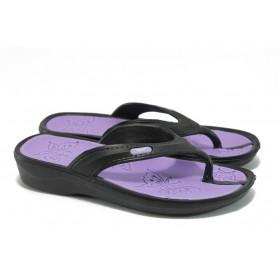 Джапанки - висококачествен pvc материал - черни - EO-8920