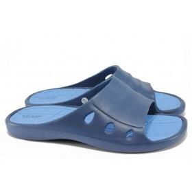 Джапанки - висококачествен pvc материал - сини - EO-8923