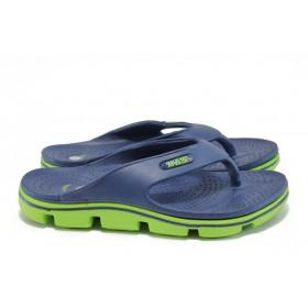 Джапанки - висококачествен pvc материал - сини - EO-8941