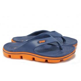 Джапанки - висококачествен pvc материал - сини - EO-8942