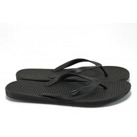 Джапанки - висококачествен pvc материал - черни - EO-8936