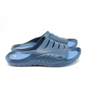 Мъжки чехли - висококачествен pvc материал - сини - EO-8952