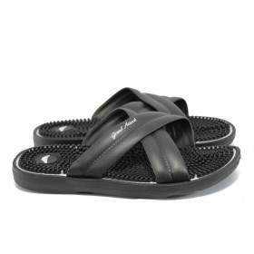 Джапанки - висококачествен pvc материал - черни - EO-8947