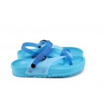 Джапанки - висококачествен pvc материал - сини - EO-8948