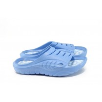 Джапанки - висококачествен pvc материал - сини - EO-8938