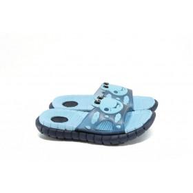 Джапанки - висококачествен pvc материал - сини - EO-8928