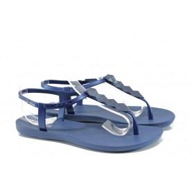 Дамски сандали - висококачествен pvc материал - сини - EO-9771