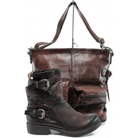 Дамска чанта и обувки в комплект -  - бордо - EO-9702