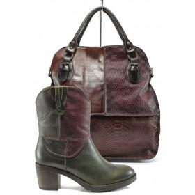 Дамска чанта и обувки в комплект -  - бордо - EO-9727