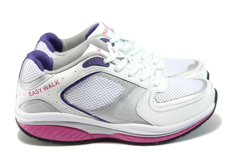 Юношески маратонки - висококачествена еко-кожа - бели - EO-8101