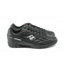 Мъжки маратонки - висококачествена еко-кожа - черни - EO-8112