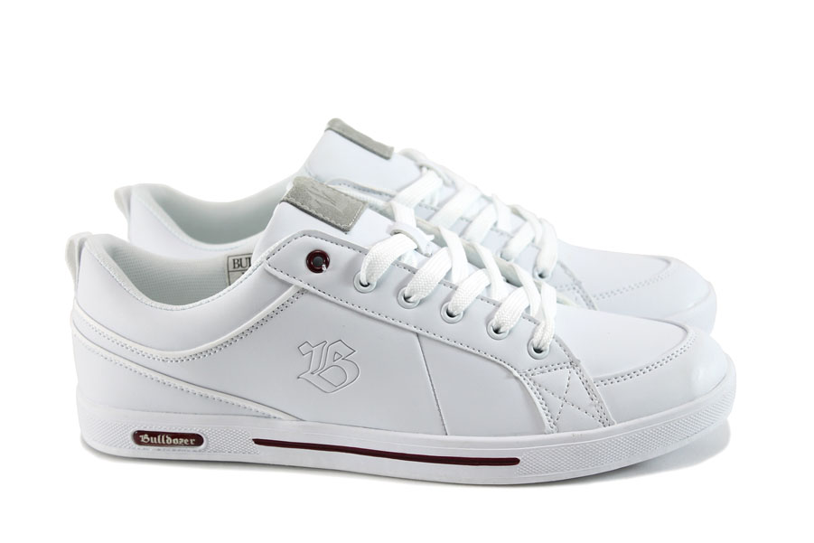 Спортни мъжки обувки - естествена кожа - бели - EO-8115