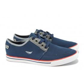 Спортни мъжки обувки - висококачествен текстилен материал - сини - EO-8366