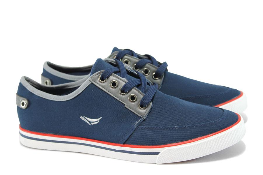 Спортни мъжки обувки - висококачествен текстилен материал - сини - EO-10235