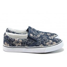 Дамски спортни обувки - висококачествен текстилен материал - сини - EO-8483