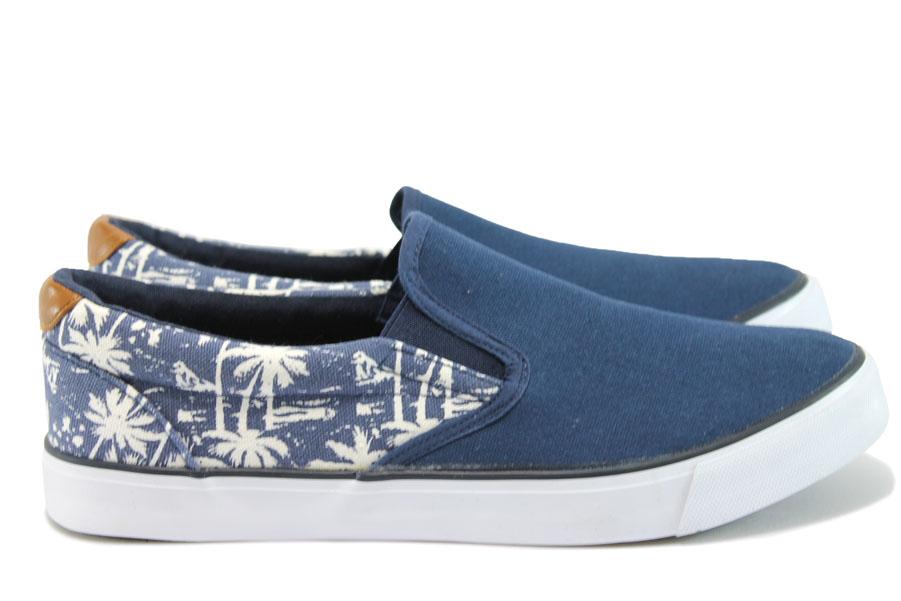 Спортни мъжки обувки - висококачествен текстилен материал - сини - EO-8484