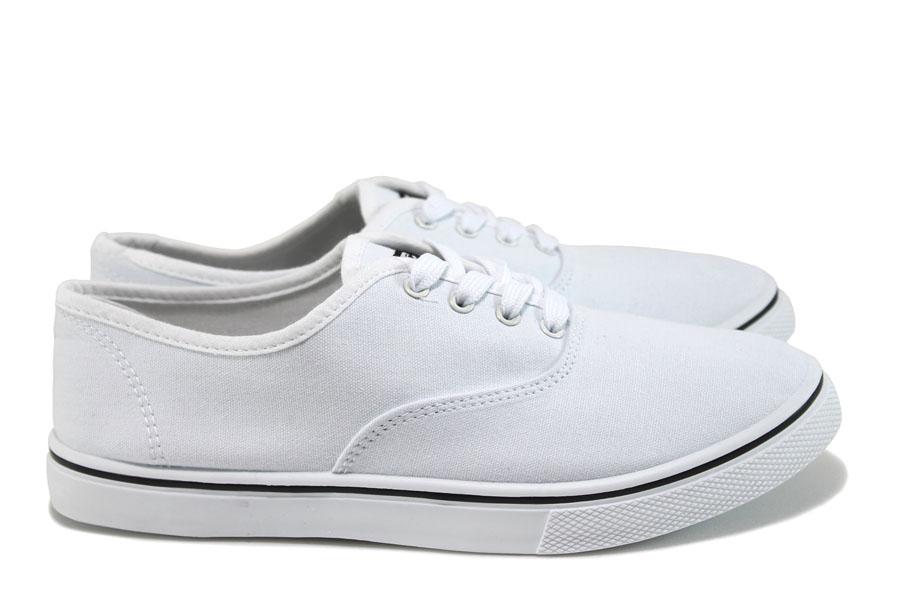 Спортни мъжки обувки - висококачествен текстилен материал - бели - EO-8570