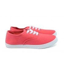 Дамски спортни обувки - висококачествен текстилен материал - корал - EO-8565