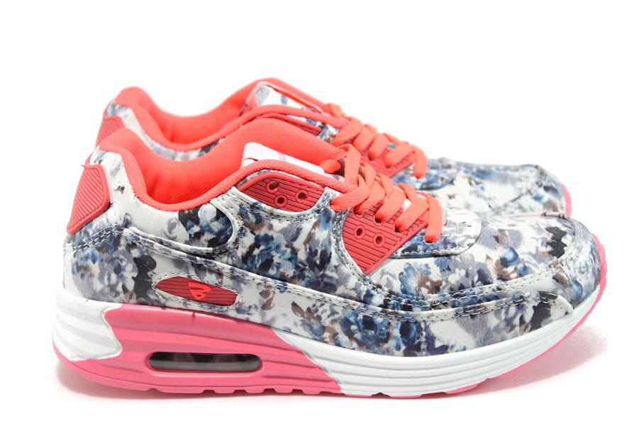 Дамски маратонки - висококачествена еко-кожа - сиви - EO-9227
