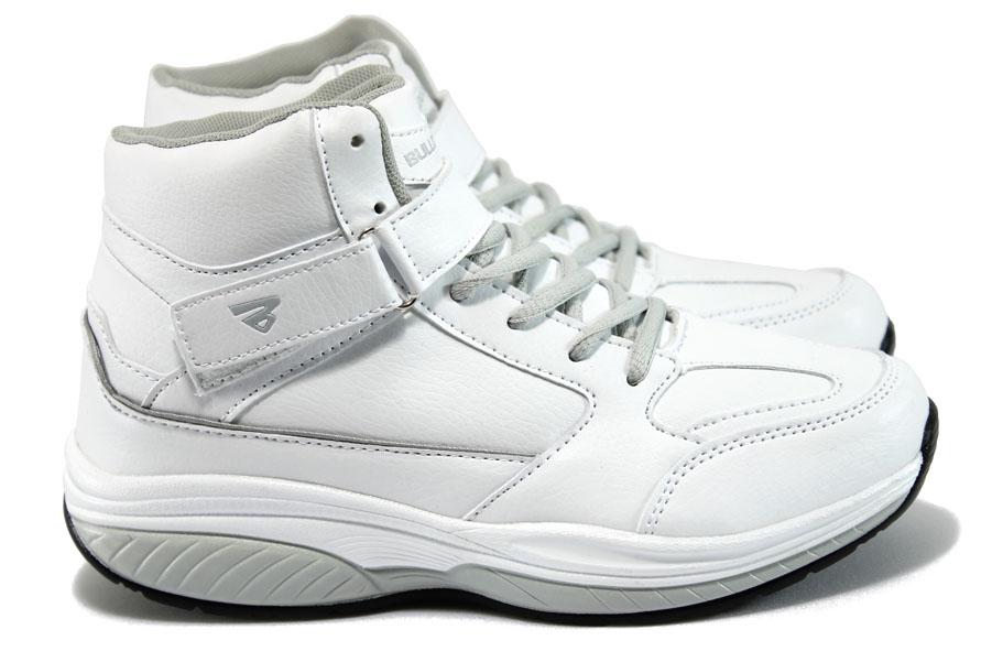 Дамски кецове - висококачествена еко-кожа - бели - EO-9231