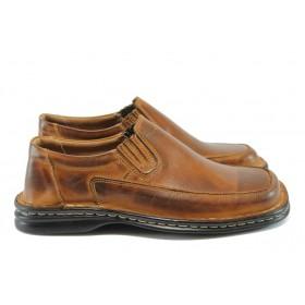 Мъжки обувки - естествена кожа - кафяви - EO-8355