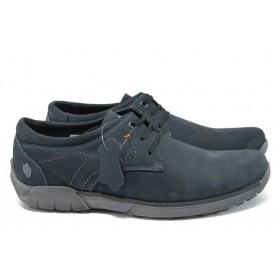 Мъжки обувки - естествена кожа - сини - EO-9253