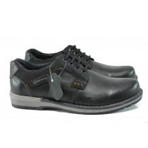 Мъжки обувки - естествена кожа - черни - EO-9299