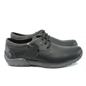 Мъжки обувки - естествена кожа - черни - EO-9300