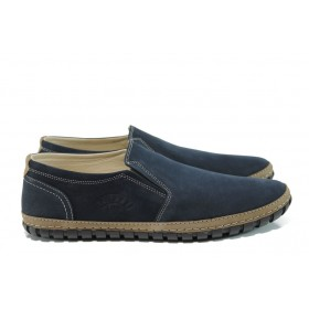 Мъжки обувки - естествена кожа - сини - EO-9511
