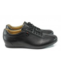 Мъжки обувки - естествена кожа - черни - EO-9597