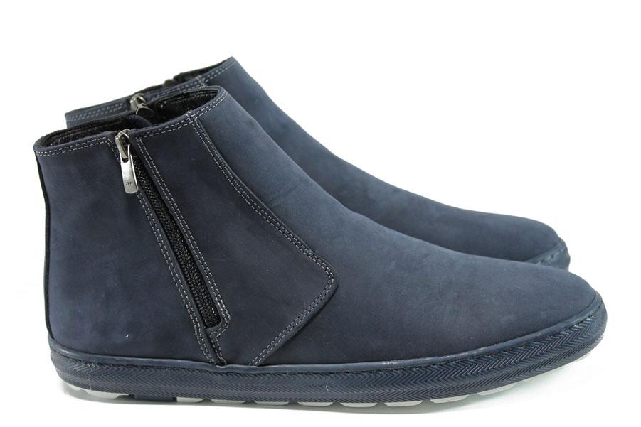 Мъжки боти - естествена кожа - сини - EO-9619