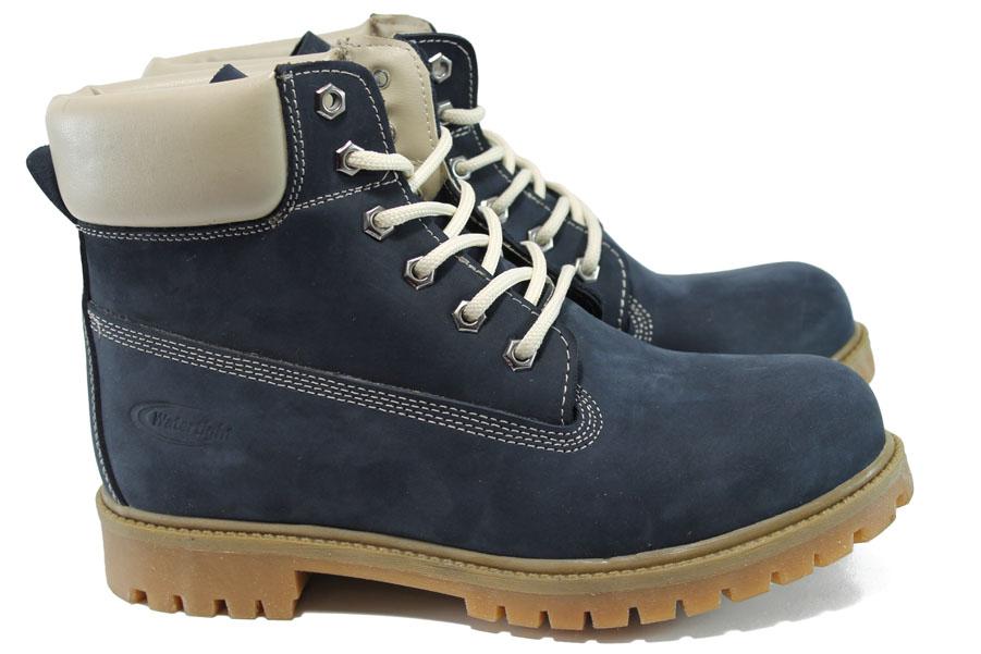 Мъжки боти - естествена кожа - сини - EO-9760