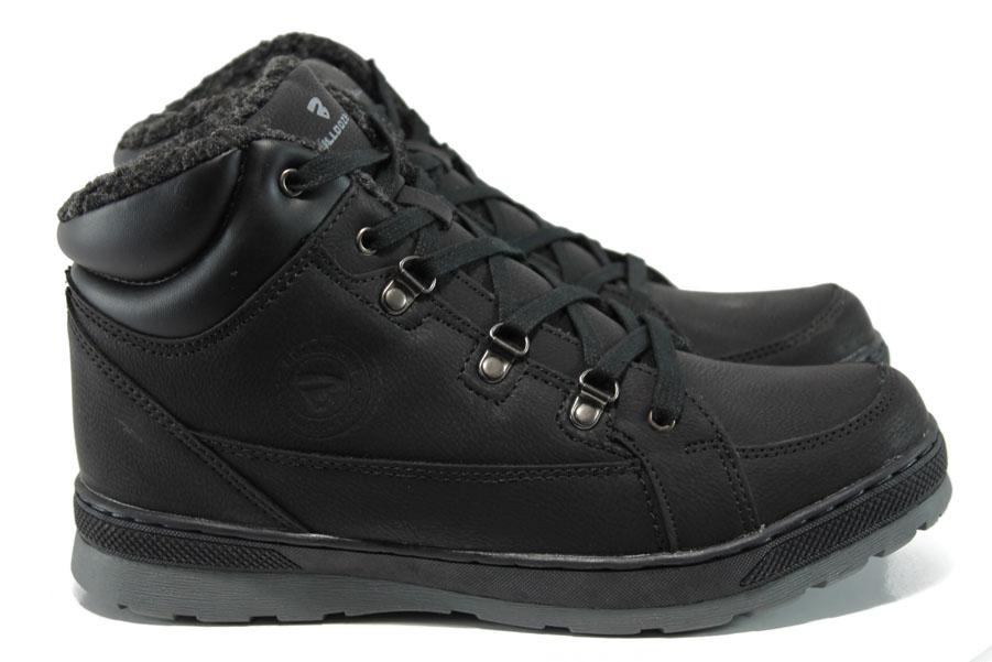 Мъжки боти - висококачествена еко-кожа - черни - EO-9767