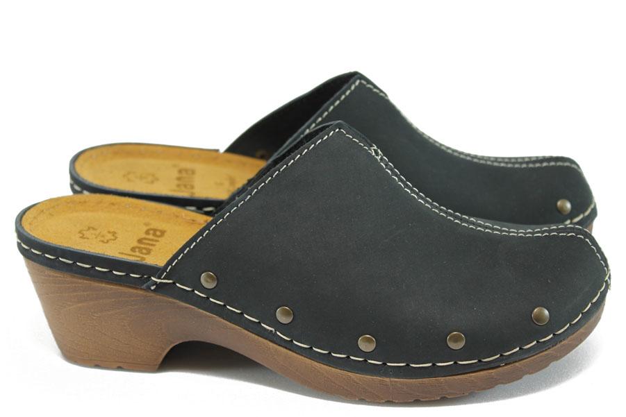 Дамски чехли - висококачествена еко-кожа - черни - EO-7902