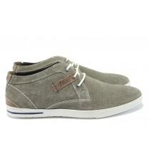 Мъжки обувки - естествен набук - сиви - EO-8168