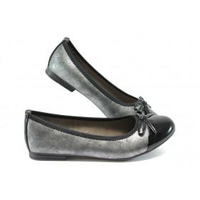 Равни дамски обувки - висококачествена еко-кожа - черни - EO-8189