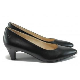 Дамски сандали - естествена кожа - черни - EO-8377