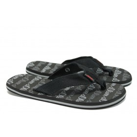 Мъжки чехли - текстилен материал - черни - EO-8699