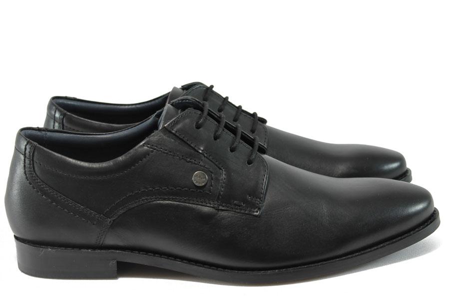Мъжки обувки - естествена кожа - черни - EO-9029