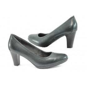 Дамски обувки на висок ток - естествена кожа - сиви - EO-9062