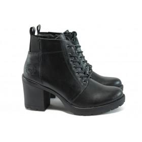 Дамски боти - висококачествена еко-кожа - черни - EO-9223