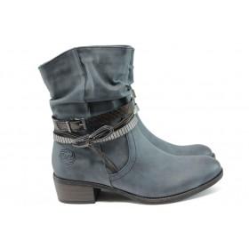 Дамски боти - висококачествена еко-кожа - сини - EO-9278